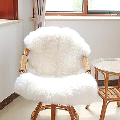 Nature éco PEAU LAINEE//mouton mérinos blanc 140-150 x 75-90 NEUF