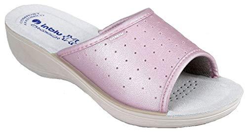 inblu Pantofole Ciabatte SANITARIE Donna MOD. PL-45n Rosa (36 EU)