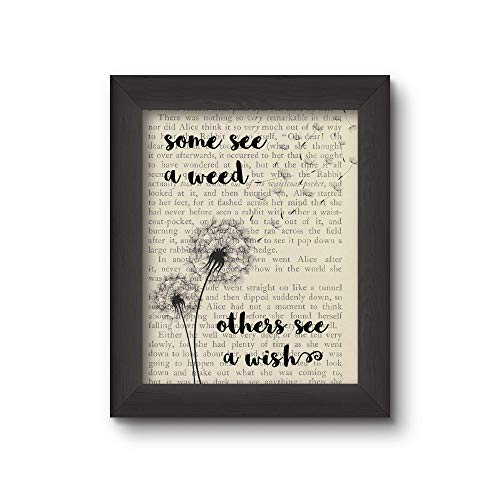 Cecelia Rose Book Art 8x10 Print'Some See A Weed Others See A Wish'