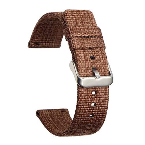 RHBLHQ Correa de Reloj Correa Universal Suave y Transpirable reemplazo de la Correa de la Correa de Nylon for los Deportes del Reloj 22mm 20mm Correa de Reloj de Nailon