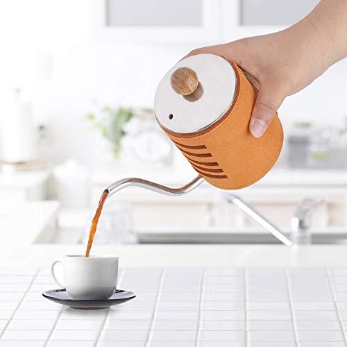 Gießen Sie über Kaffeekocher, Edelstahl langen feinen Auslauf Wasserkocher Tropf grifflosen Kaffee Tee Schwanenhals Topf für den Haushalt