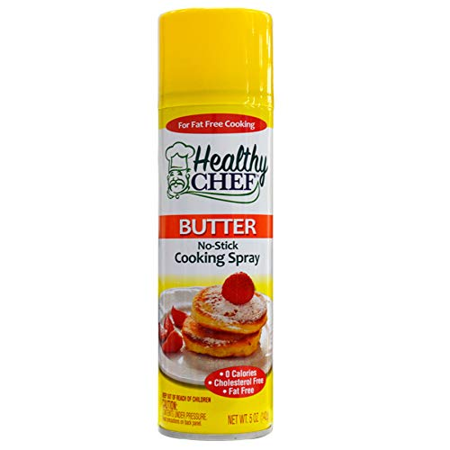 (pack of 12) Healthy Chef Cooking Spray Butter Non-Stick 5oz