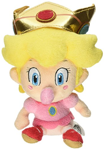 Sanei 5 Official Baby Peach Soft Stuffed Plush Super Mario Plush Series Plush Doll Japanese Import by