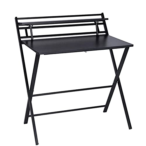 WLJBD mounted wall desk, Folding Desk for Small Space, Computer Gaming, Writing, Student and Modern Home Office Organization, Industrial Metal Frame with Premium Desktop Surfaces, White/Black/Khaki