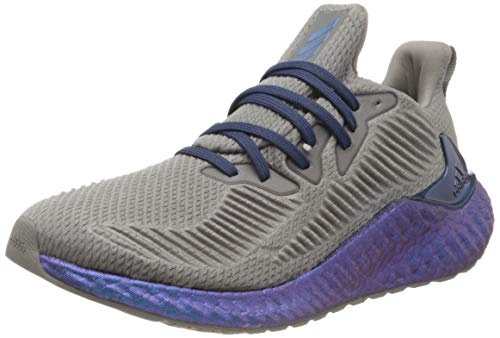 adidas Herren Alphaboost Laufschuh, Dove Grey/Tech Indigo/Dash Grey, 42 2/3 EU