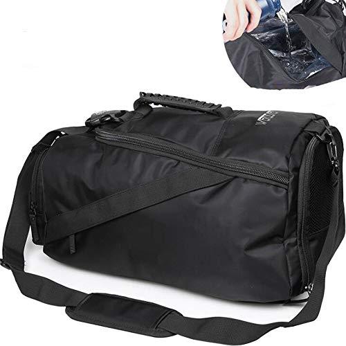ZY Basketball-Ausrüstung Rucksack, Rucksack für Männer Training eine Schulter Outdoor Sports Fitness Bag trockene und nasse Trennung,wetanddryisolatedblack