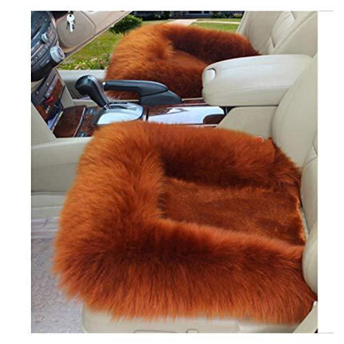 Lanxing Autowollematten einzige Auflage Autositzbezüge Kissen Schaffell Fleece Universal-Kissen for Autodekoration und im Winter warm (Color Name : Brown)