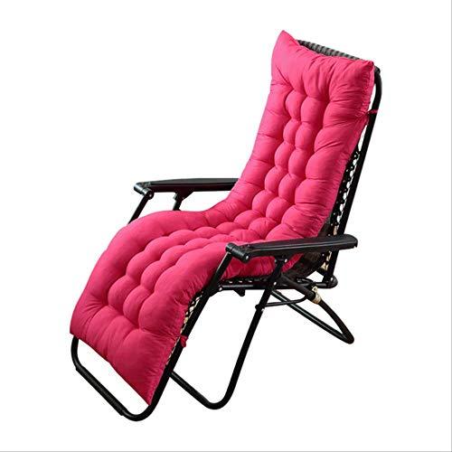 No Recliner schommelstoel van rotan met kussen voor tatami-stoel, mat, vloer 155x48cm Roze.