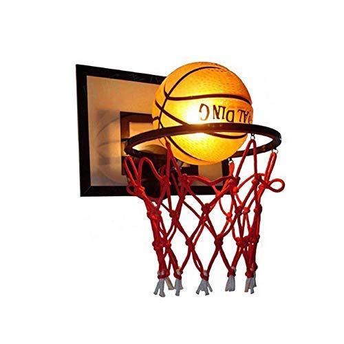 YLLN Applique Murale de Basket-Ball, Chambre d'enfants, éclairage Mural décoratif de Basket-Ball créatif, Abat-Jour en Verre de Lampe de Chambre à LED, pour Chambre de garçon de Filles de crèche