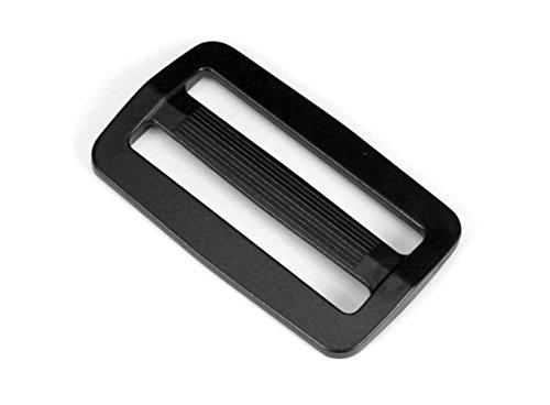 Strapworks Black Plastic Tri-Glide Slide – for Bag Straps, Rifle Slings, Dog Collars - 2 Inch, 10 Pack