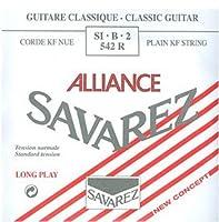 SAVAREZ ALLIANCE スタンダードテンション SI・B・2 542R クラシックギター弦(バラ) 2弦 B弦 1本入り 【国内正規品】