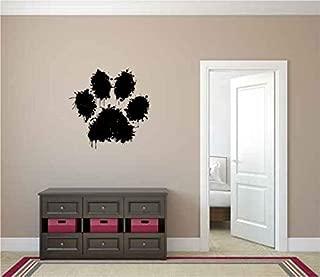 N.SunForest Paw Print Paint Splatters Vinyl Wall Decal Home Decor