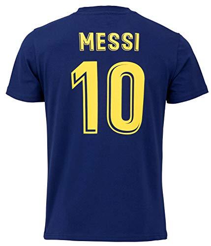 FC Barcelona Morefootballs - Offizielles Lionel Messi T-Shirt für Kinder - 2020/2021-140 - FCB Kurzarm Shirt mit Messi Nummer 10 - Fussbal Trikot