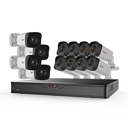 %5 OFF! Revo Ultra HD 16 Ch. 3TB IP NVR Security System & 12 2MP Night Vision Bullet Cameras