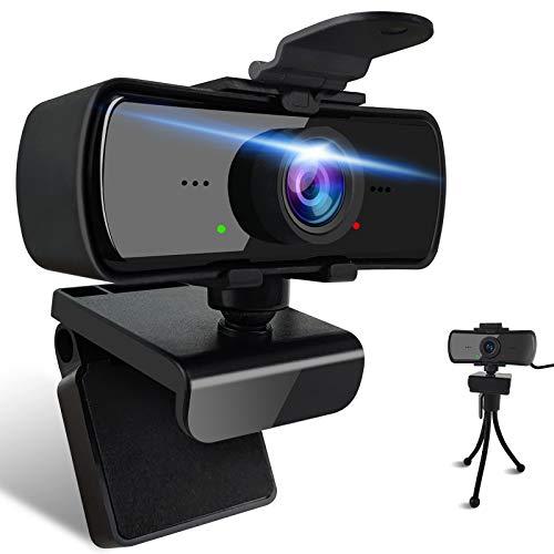 PLDDY cámara web con micrófono full hd 1080p Webcam con Micrófono Cámara Pc de Transmisión en digital Webcam USB para Conferencias,Streaming Cámara,Videollamada, Juegos