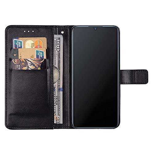 DAYNEW für Vivo V11 Pro Hülle,Handyhülle für Vivo V11 Pro[Magnetisch][Standfunktion][Kartenfächern]für Vivo V11 Pro Cover-Schwarz