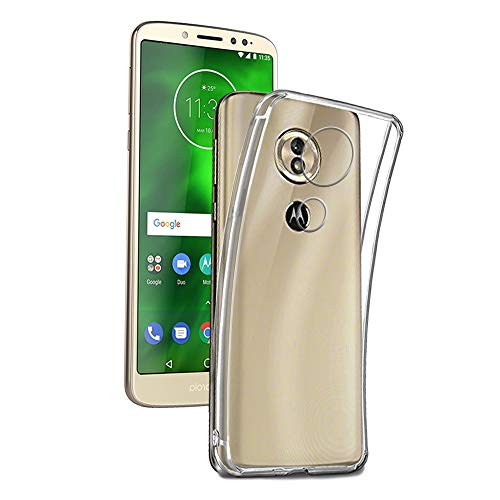 REY - Pack 3X Cover in Gel TPU Trasparente per Motorola Moto G6 Play, Ultra Sottile 0,33 mm, Morbido Flessibile, Custodia Silicone