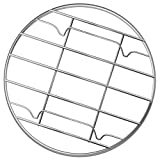G Gallize Stainless Steel Steamer Rack - Multi-Purpose Round Cooling Rack for Baking, Canning, Cooking, Steaming, Lifting Food in Pots, Pressure Cooker, Steamer and Oven (8 inch)