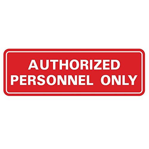 "Standard Autorisierte Personnel Only Tür/Wand Schild 2\"" x 6\"" - Small rot"