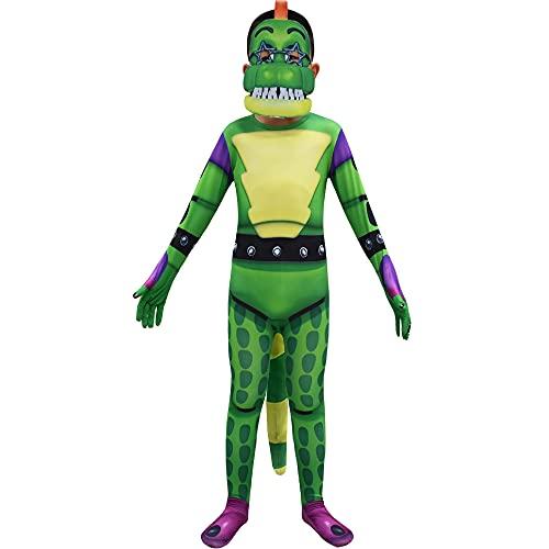 Happyeating Five Nights at Freddy'S Cosplay Disfraces para niños, FNAF Ballora/Foxy Roleplay Jumprsuit Disfraces Conjunto Completo para niñas Niños