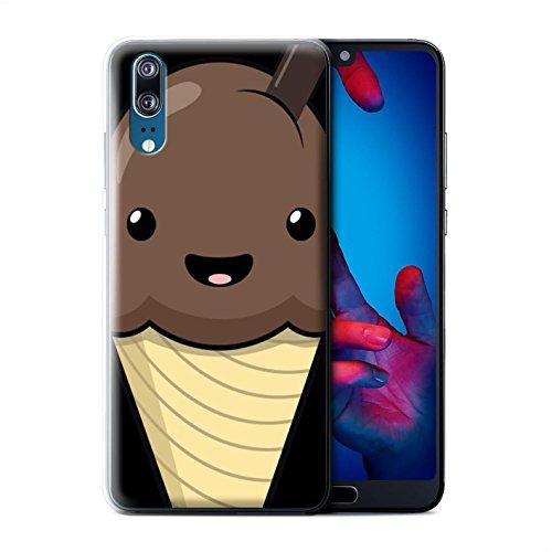 Stuff4® Phone Case/Cover/Skin/HUAGP-CC/Kawaii Food Collection Huawei P20 Chocolade ijs