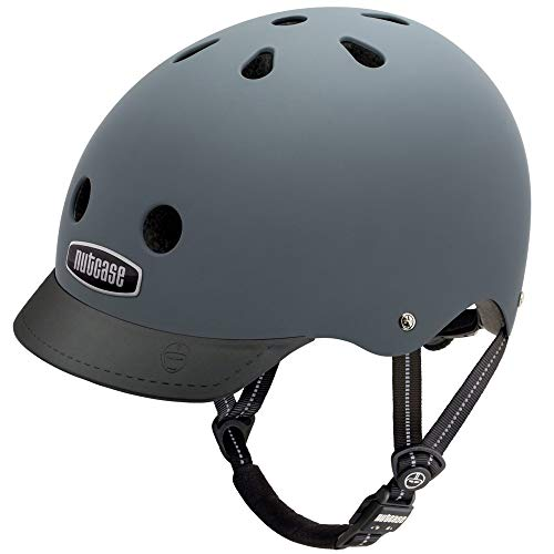 Nutcase Gemusterter Street Bike  für Erwachsene, Grau (Shark Skin), M (56-60 cm)