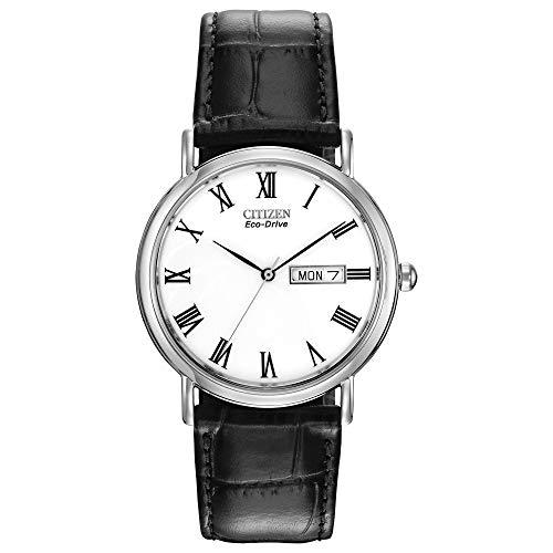 City Golf(シティーゴルフ) BM8240-11A - Reloj para Hombre, Correa de Cuero Color Negro