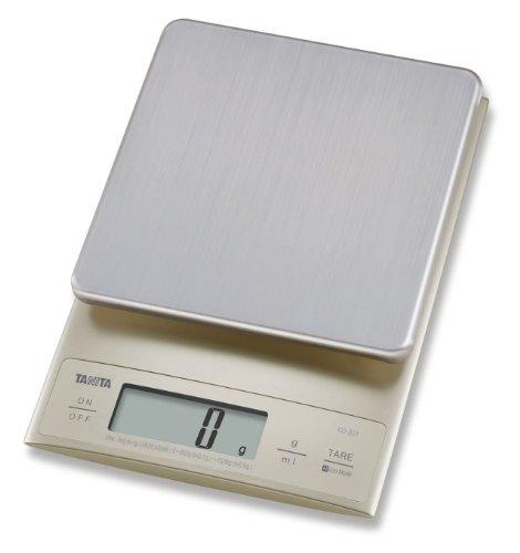 Tanita KD321SV33 Bilancia da cucina 3 kg a scatti di 0.1 g, elettrica, bianco, plastica
