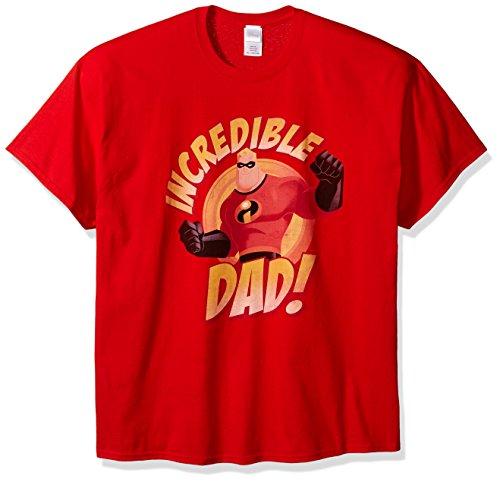 Disney Les Indestructibles sous Licence Officielle Les Hommes Adultes est Incroyable Papa Fête des Pères T-Shirt Tee Nouveau (Rouge, Petit)