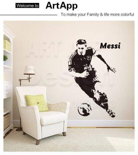 Utopiashi Lionel Messi Barcelona wandsticker ziele tapete fußball fußball Barca Silber