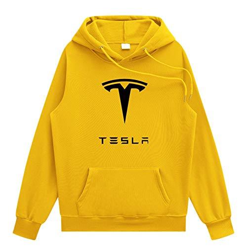JJZXLQ Sudadera con capucha para hombre, impresión digital 3D, Tesla de manga larga, para primavera, otoño, C, 3XL