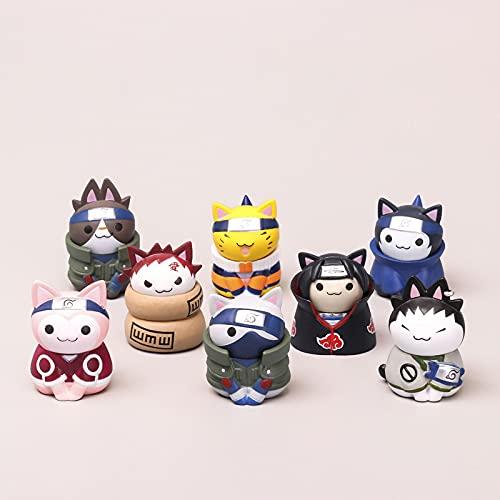 8 PCS/SET Naruto Q Chat Version Modèle de Poupée Uchiha Sasuke Figurine Pop Set de Petites Figurines D'anime À Collectionner Décoration de voiture
