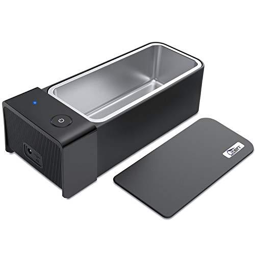 Uten Ultrasonic Cleaner - 600ml Low Noise Wash Machine for Cleaning Eyeglasses, Jewelry, Watches, Razors, Dentures Combs, Retainer (Black)