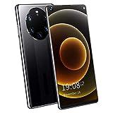 Garsentx Teléfono móvil Inteligente Pantalla de 6.72 Pulgadas Reconocimiento Facial Mate50 RS Dual SIM Dual Standby, 2 + 16GB de Larga duración de la batería Ligero, Adecuado para Estudiantes(Negro)