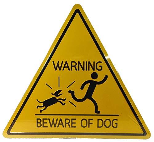 Trends & Trade Gran Warning – Beware of Dog – Cartel de chapa de 34 x 30 cm, mensaje en alemán 'Warning vor dem Hund', F47