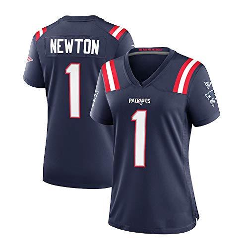 POAE New England Patriot Cam Newton Navy Spieltrikot für Frauen, schnell trocknender Trainingsanzug für Studenten Männergeschenk (s-3xl) Navy Jersey-XL