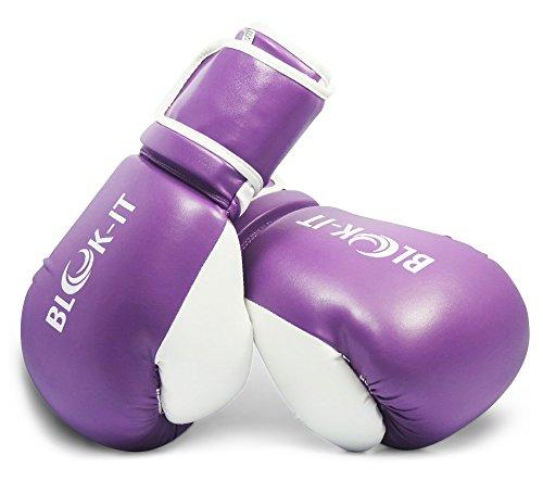 Blok-iT Guantes de Boxeo Especialista en Equipo para Boxeo Pro (Morado, 4oz (Tamaño del niño)