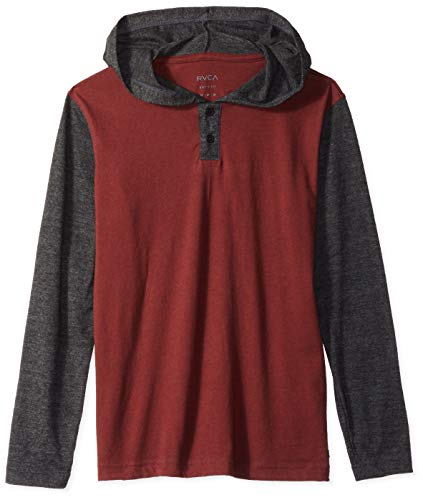 RVCA Boys' Pick Up Knit Hoodie Bordeaux Small