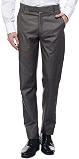 American-Elm Men's Basic Formal Trouser Brown