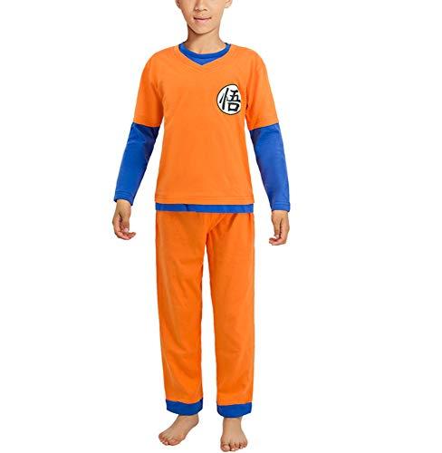 Dragon Ball Goku Pijamas para niños Conjunto Niños Niñas Camiseta de Manga Larga y Pantalones...