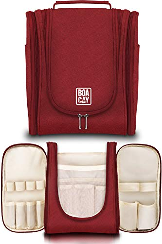 Premium Hanging Travel Toiletry Bag for Women and Men Hygiene Bag Bathroom and Shower Organizer Kit with Elastic Band Holders for Toiletries Cosmetics Makeup Brushes