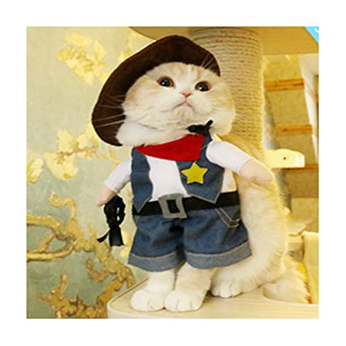 XEKE se Convierte en un Traje de Mascota erguido, un Disfraz de Halloween para Gatos y Perros, y un Traje de Gato o Perro para una Fiesta Divertida-C||S
