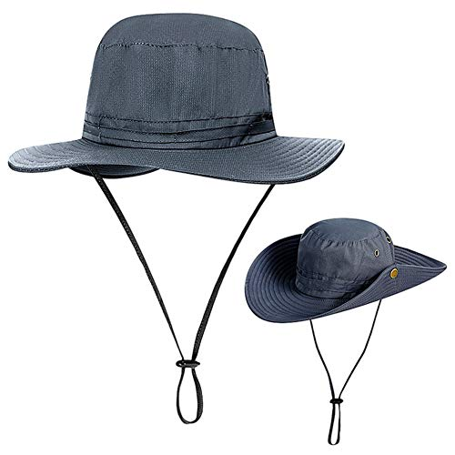 CYSJ Sombrero para el Sol, Sombrero de Montañismo, Anti-UV Acampada Senderismo, Adulto Unisexo Ajustable Plegable Sombrero de Pescador, Adecuado para Deportes al Aire Libre y Camping
