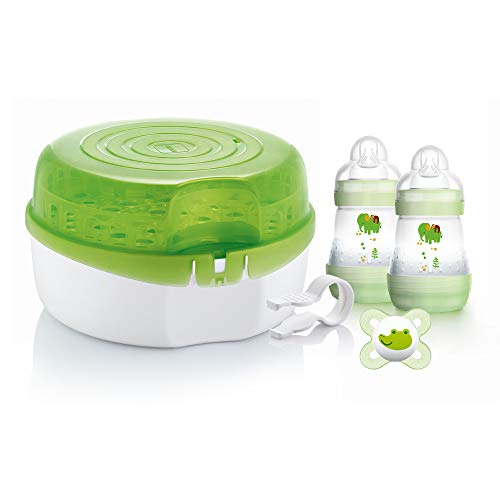 MAM Microwave Steam Steriliser, Comes with 2x MAM Easy Start Self...