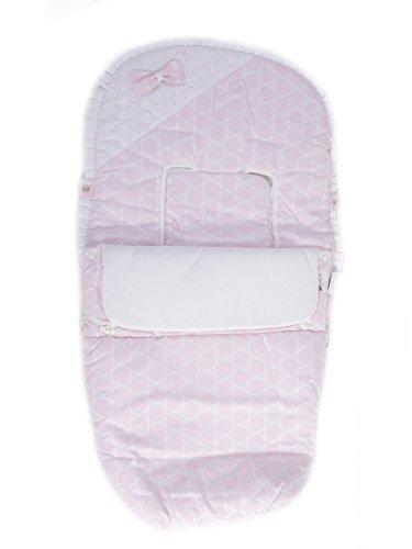 Saco Carrito Bebe Universal Entretiempo para Silla de Paseo Serie Circulos Color rosa