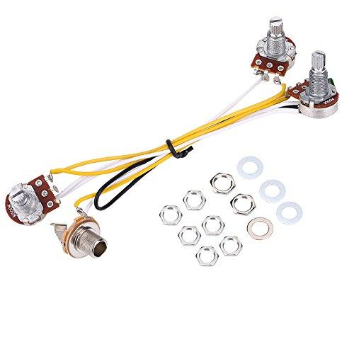 Gitaar wiring Hareness set, 500K pannen control knoppen 3-weg schakelaar met Jack kabelboom kit voor JB Electirc Bass