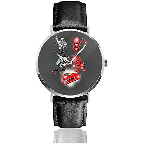 Unisex Business Casual Miltons Rache Office Space Uhren Quarz Leder Uhr