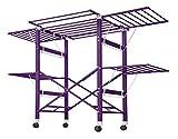 NEUN WELTEN Grande Stendibiancheria in Alluminio con Ruote (Nuovo in Condizioni Speciali) (Viola...