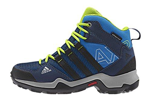 adidas Unisex-Kinder AX2 Mid CP Trekking- & Wanderstiefel, Blau (Shock Blue S16/Core Black/Semi Solar Slime), 37 1/3 EU
