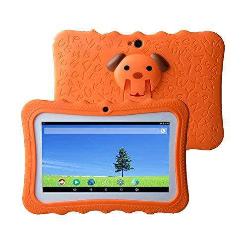 Fesjoy Tablet-PC para niños de 7 pulgadas, 1G + 16G Quad Core Wi-Fi, con funda de silicona resistente a los golpes, compatible con niños